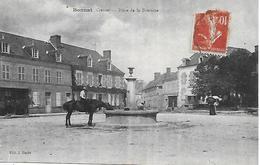 Creuse - 23 - BONNAT -  Place De La Fontaine Animée Carte Très Rare ! Editeur J. Barde - France