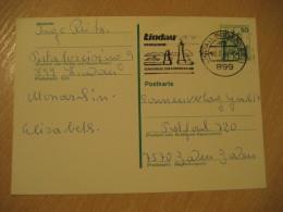 LINDAU 1980 Cancel Postal Stationery Card GERMANY Lighthouse Phare Architecture - Phares