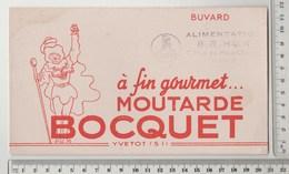 BUVARD Moutarde BOCQUET Yvetot , Tampon Alimentation BERTHAUX à VIRE - Moutardes