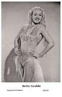 BETTY GRABLE - Film Star Pin Up PHOTO POSTCARD - 98-203 Swiftsure Postcard - Postales