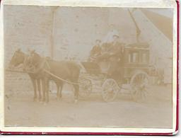 BONNAT - Très Rare Photo Originale 1900 Diligence Malle Poste De Bonnat à La La Celle Dunoise Cocher Monsieur Glomot - Autres Communes