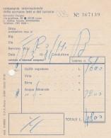 RICEVUTA 1984 COMPAGNIA DELLE CARROZZE LETTI TURISMO (BV609 - Italie