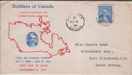 Canada Cover 1955 Airmail Label (Red-2102) - 1952-.... Elizabeth II