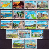 ALDERNEY 1983-93 SG A1-A12e Compl.set Used Island Scenes - Alderney