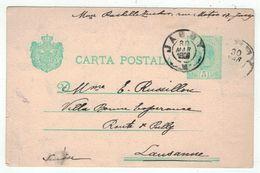 Roumanie // Romania // Entier Postaux // Entier Postal Pour Lausanne (Suisse) - Entiers Postaux