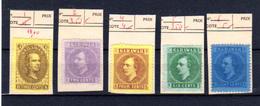 1869-71 Sarawak 1869-71, Sir James Brooke, Sir Charles Johnson Brooke, Entre 1 Et 6* Sans Gomme, Cote 103 € - Sarawak (...-1963)