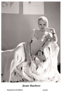 JEAN HARLOW - Film Star Pin Up PHOTO POSTCARD - 6-163 Swiftsure Postcard - Postales