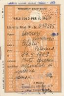 LIBRETTO FERROVIARIO 1966 PENSIONATI DELLO STATO GUARDIA FINANZA (BV720 - Abbonamenti