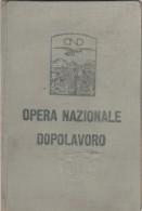 OPERA NAZIONALE DOPOLAVORO 1928 (BV730 - Italia