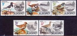 ALDERNEY 1984 SG A13-A17 Compl.set Used Birds - Alderney