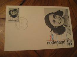 ANNE FRANK Amsterdam 1980 Maxi Maximum Card NETHERLANDS Writer Literature - Scrittori