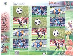 2018. Moldova, My Personal Stamp, World Football Championship 2018, Sheetlet, Min/** - Moldova