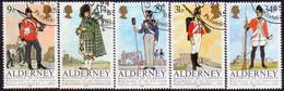 ALDERNEY 1985 SG A23-A27 Compl.set Used Regiments Of The Alderney Garrison - Alderney