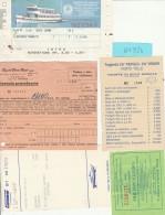 LOTTO 5 BIGLIETTI NAVI TRAGHETTI (BV924 - Carte D'imbarco Di Navi