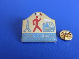 Pin's FFA 1994 - Paris Montreuil Colmar - Tour Eiffel Alsace - Course à Pied Athlétisme (PE13) - Athletics