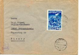 Lettre De Pologne Vers Allemagne 1952 Avec Censure Britannique - Zone Anglo-Américaine