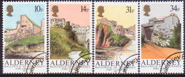 ALDERNEY 1986 SG A28-A31 Compl.set Used Alderney Forts - Alderney