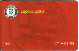 GREECE - Alfa Romeo, Alfisti Club, Member Card, Exp.date 05/08, Sample - Unclassified