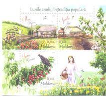 2018. Moldova, Folk-lore, Months Of The Year, Spring, S/s, Mint/** - Moldova