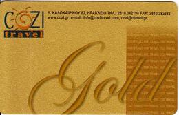 GREECE - Cozi Travel, Gold Member Card, Unused - Unclassified