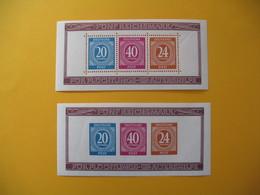 Allemagne Dentelé Et Non Dentelé De Bloc De 3 Funf Reichsmark Neuf** à Voir - Zone AAS