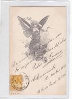 MUJER CON ALAS DE MARIPOSA FEMME AVEC AILE DE PAPILLON. ILLUSTRATION. ASW. CIRCULEE 1906 TO CAÑADA DE GOMEZ- BLEUP - Silhouetkaarten