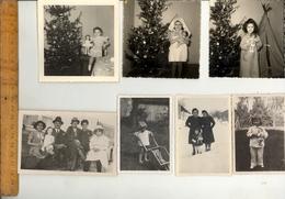 Photographie Originale : X16 Photos Fillettes Avec Poupée Poupée Girls With Dolls Doll 1930-1960 - Objects