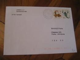 RYCHNOV NAD KNEZNOU 2002 Stamps On Cover CZECHOSLOVAKIA Astrology Astrologie Zodiac Zodiaque - Astrologie