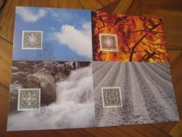 4 Elements Earth Water Fire Air VADUZ 1994 Maxi Maximum 4 Card LIECHTENSTEIN Astrology Astrologie Zodiac Zodiaque - Astrologie