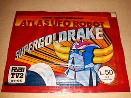 Supergoldrake Atlas Ufo Robot Bustina Chiusa Con Figurine 1979 - Adesivi