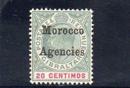MOROCCO AGENCIES 1905 * FIL. CA MULTIPLE - Uffici In Marocco / Tangeri (…-1958)