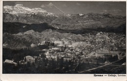 POSTCARD-MONTENEGRO-CETINJE ,LOVEEN- VIAGGIATA1937-REAL FOTO - Montenegro