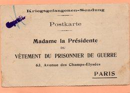 CARTE RECEPTION COLIS DE 1917 - MILITARIA - WWI - PRISONNIER FRANCAIS AU CAMP DE BAUTZEN ALLEMAGNE - War 1914-18
