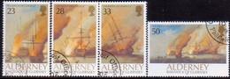 ALDERNEY 1992 SG A52-A55 Compl.set Used Battle Of La Hogue - Alderney