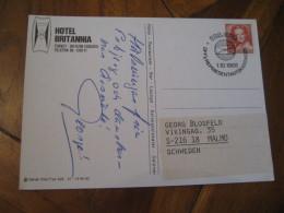 HOTEL BRITANNIA Esbjerg 1988 Post Card DENMARK Tourism Tourisme Hotel Hotels - Hotel- & Gaststättengewerbe