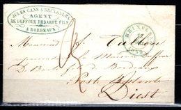 Lettre Expédiée En Port Dû - Expédiée De Bruxelles à Destination De Diest Le 19 Mars 1849 - 1830-1849 (Belgique Indépendante)