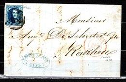 7 Sur Lettre Expédiée De Gand à Destination De Kerckhove Le 15 Décembre 1855 - 1851-1857 Medaillen (6/8)