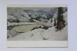 High Mountain Skating Rink. Kazakhstan, Artist N. Tansykbaev, 1958 Year - Kazakhstan