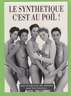 """5 FEMMES SEINS NUS """"LE SYNTHETIQUE C'EST AU POIL"""". - Persönlichkeiten Von Früher < 1960"""