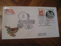 KIWANIS International Club Sunbound Conv. MIAMI BEACH 1978 Cancel Cover USA - Rotary, Lions Club
