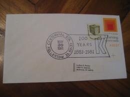 KIWANIS 100 Year Club Centennial KELERTON 1981 Cancel Cover USA - Rotary, Lions Club