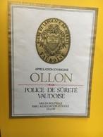 8840 - Police De Sûreté Vaudoise Suisse Ollon - Etiquettes