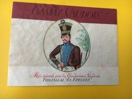8841 - Gendarmerie Vaudoise Suisse Gamay Villette Et Rosé De Gamay 4 étiquettes - Etiquettes