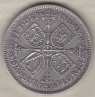 Grande Bretagne. One Florin 1936. George V ,en Argent - 1902-1971 : Post-Victorian Coins