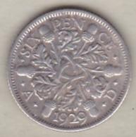 Grande Bretagne. 6 Pence 1929. George V ,en Argent - 1902-1971 : Post-Victorian Coins
