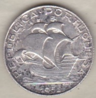 PORTUGAL . 2 ½ ESCUDOS 1951  ,en Argent - Portugal