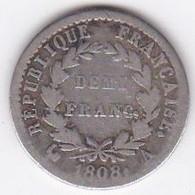 1/2 Franc 1808 A (Paris), Napoleon I ,  En Argent - Frankreich