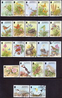 ALDERNEY 1994-98 SG A60-A77 Compl.set Used Flora And Fauna All Perf. 14½ - Alderney