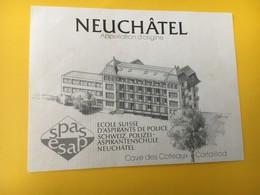 8844 - Ecole Suisse Des Aspirants De Police Neuchâtel Cave Es Côteaux Cortaillod - Etiquettes