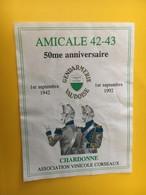 8845 - Amicale 42-43 50e Anniversaire Gendarmeire Vaudoise 1.09.1992 - Etiquettes